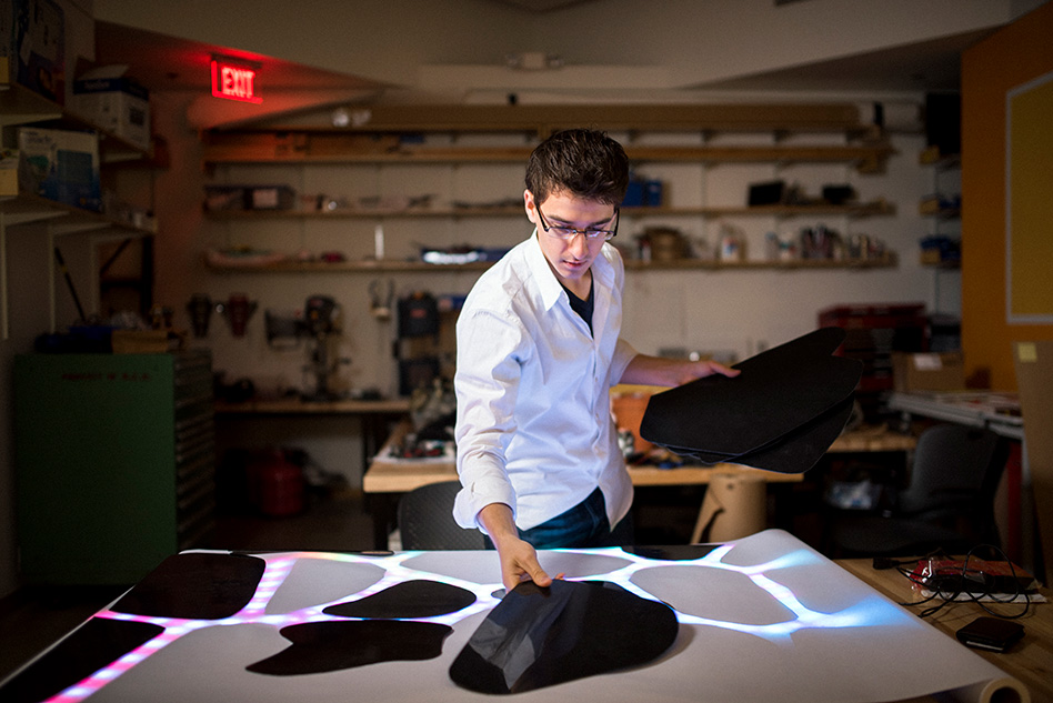 Senior Garrett Parrish combines art and tech, with dramatic effects